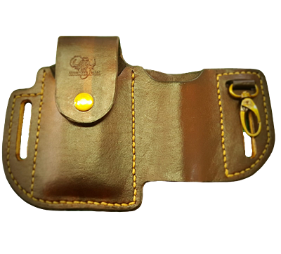 Multitool Flashlight Hook Leather Pouch